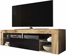 Selsey Bianko - TV lowboard / TV cabinet in wood