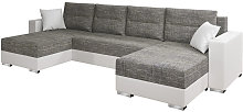 Selsey Gambia - Corner Sofa Bed - Grey / White -