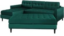 Selsey Kopenhaga - Corner Sofa Bed - Emerald Green