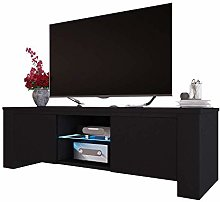 Selsey TV Cabinet, Black, 130 x 40 x 36