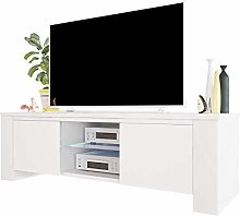 Selsey TV Cabinet, White, 130 x 40 x 36