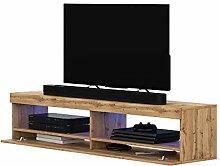 Selsey TV lowboard, Matt Oak, 100 x 40 x 40