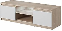 Selsey TV lowboard, Sonoma Oak/White Matt, 120 x