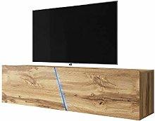 Selsey TV lowboard, Wotan Oak Matt, 160 x 40 x 35