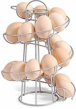 SELUXU Egg Spiraling Dispenser Rack-Chrome Plated