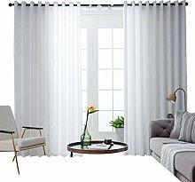 Semi-Sheer Voile Window Curtain, Blackout Cozy