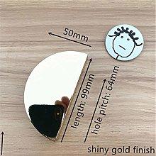 Semicircular Solid Zinc Alloy Brushed Gold Black