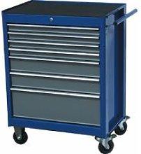 Senator 7-Drawer Cabinet Blue/Grey