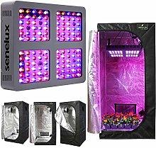 Senelux Grow Tent Kit LED Grow Light Full Spectrum