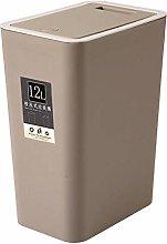 Senmubery 12L Bathroom Trash Can Toilet Kitchen