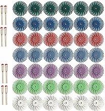 Senmubery Radial Bristle Disc Kit,50Pcs 1Inch 25mm