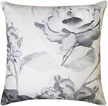 Senna Floral Filled Cushion Grey Bed/Sofa