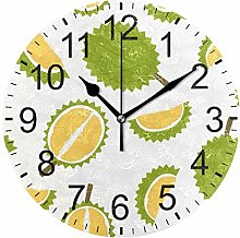 SENNSEE Durian Green Fruit Pattern Wall Clock