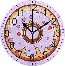 SENNSEE Purple Donut Wall Clock Decorative Living