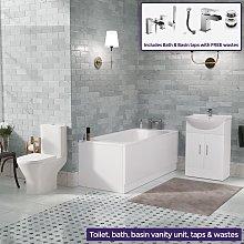 Senore Bath, Toilet and Vanity Cabinet Bathroom