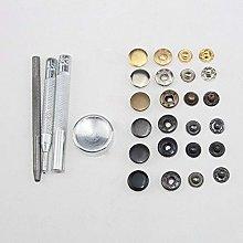 SENRISE Sewing Snap, 50pcs Metal Snap Tool Metal