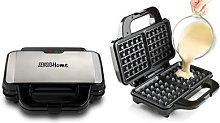 Sensio Home Waffle Maker Iron Machine 1000W: Two