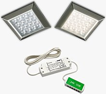 Sensio Ora Square Surface LED Lights and Kit, Pack