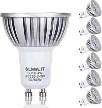 SENWEIT 6Pcs 4W GU10 LED Bulbs High Power