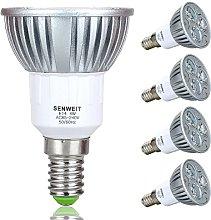 Senweit Pack of 4 4W E14 6000K Day White Bulbs