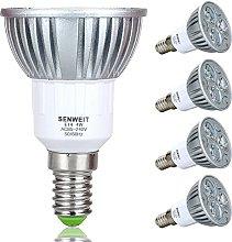Senweit Pack of 4 4W E14 Led Bulbs 3000K Warm