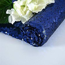 Sequin Fabric Navy Blue 1 Yard Materials for