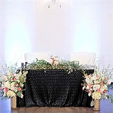 Sequin Table Cloth Black 50x80-Inch Table Cover