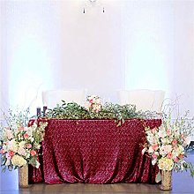 Sequin Table Cloth Burgundy 50x80-Inch Table