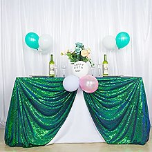 Sequin Table Cloth Peacock Green 50x80-Inch