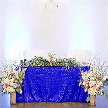 Sequin Table Cloth Royal Blue 50x80-Inch Fancy