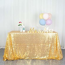 Sequin Tablecloth Rectangle 50x80-Inch Gold