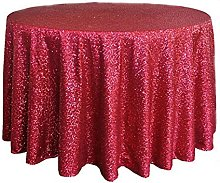 Sequin Tablecloth Round Hand Made Glittery Table