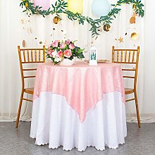 Sequin Tablecloth Square 48x48-Inch Pink Wedding