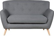 Serena Fabric 2 Seater Sofa, Dark Grey