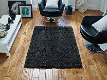 Serene Charcoal Rectangle Plain/Nearly Plain Rug