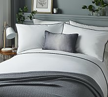 Serene Pom Pom Grey Bedding Set - Single