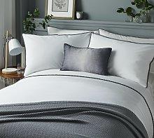 Serene Pom Pom Grey Bedding Set - Superking