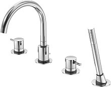 Series 100 4-hole bath tub/shower stand mixer,