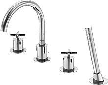 Series 250 4-hole bath tub/shower stand mixer,