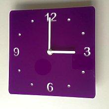 Servewell Square Clock - Purple