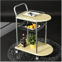Serving Cart Kitchen Trolley on Casters Storage