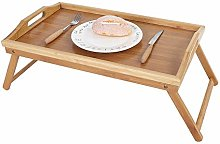 Serving Tray,Bamboo Sofa Bed Tray Portable Folding