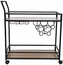 Serving Trolley,2Tier Movable Kitchen Storage