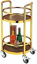 Serving Trolley Cart 2 Tier Drinks Utility Storage