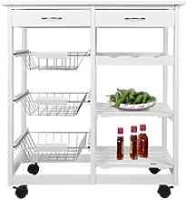 Serving trolley kitchen cart multi-storage with