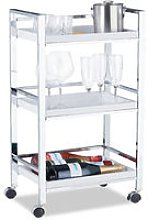 Serving Trolley with 3 Removable Trays, Tea