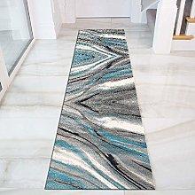 SESO UK- Runner Rug for Hallways, Modern Abstract