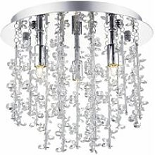 Sestina ceiling light crystal and polished chrome