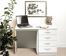 SET-05-IN-WH White Desk Drawer Unit Laptop Table