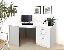SET-07-IN-WH White Drawer Desk Filing Cabinet